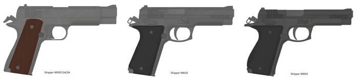 Shipper Handguns by TastyJuice