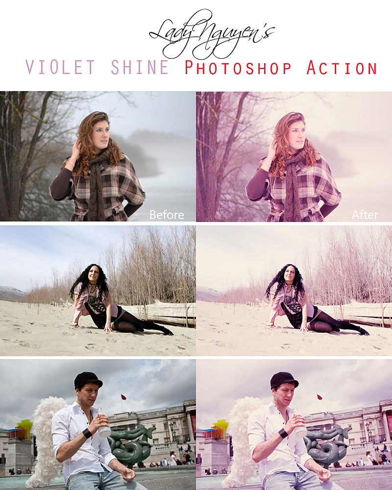 Violet Shine Photoshop Action by LadyNguyen