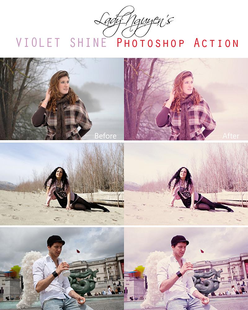Violet Shine Photoshop Action by LadyNguyen