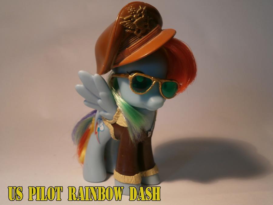 WW2 pilot rainbow dash custom by caramelpony