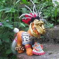 Aztec Warrior Wigwam for Time Travel Swap