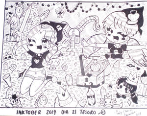 Inktober 2019 Day 21 Treasure( Anaid y Pauly)
