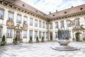 Courtyard by oldhippieart