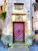 Old Apartment Door by oldhippieart