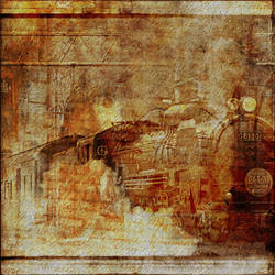 Old Train by oldhippieart