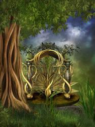 Fairy Throne by oldhippieart