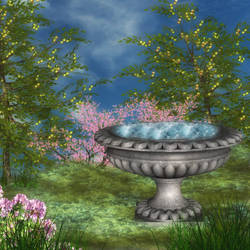 Fairy Bath by oldhippieart