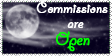 Night Commissions Open Stamp by Tsukiiyume