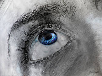 Black Hole Galaxy Eye