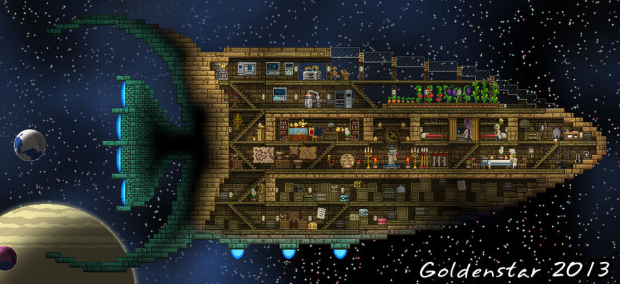 Starbound Custom Ship: Tomb Raider/Explorer's Ship by