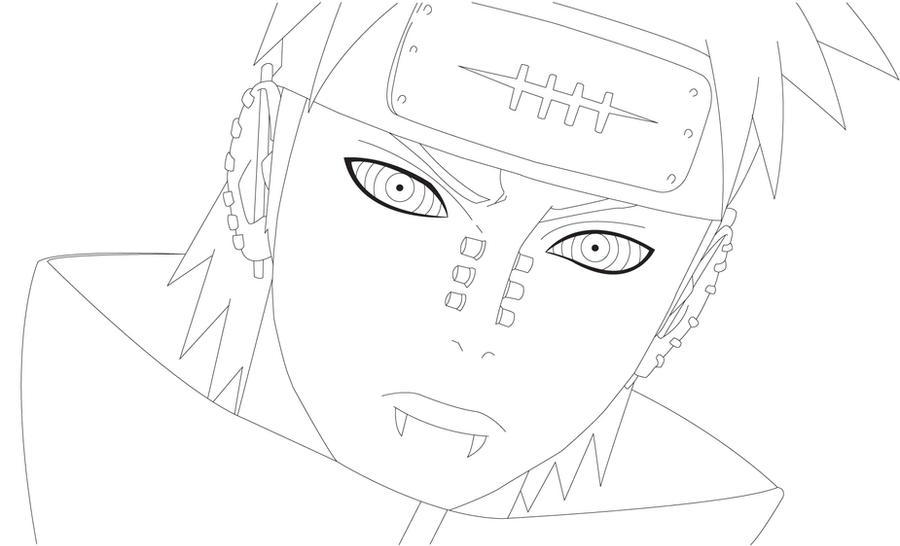Naruto Shippuden Lineart : Pain lineart by airoart on deviantart