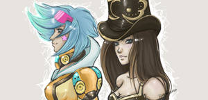Piltover Ladies by BlueTeardrop