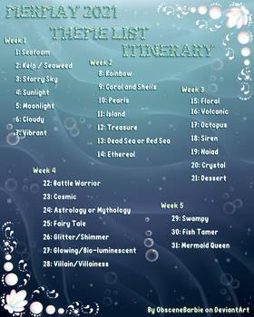 MerMay 2021 Theme List Itinerary