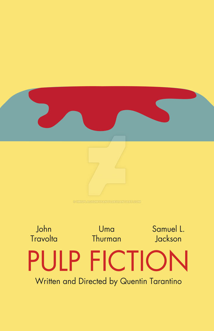 Pulp Fiction Minimalist By Imisplacedmypants