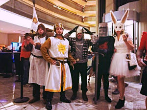 Monty Python and the Holy Grail group at Dragoncon