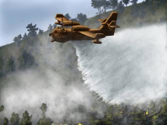 Smokey the Bearoplane by blueeyedfreak