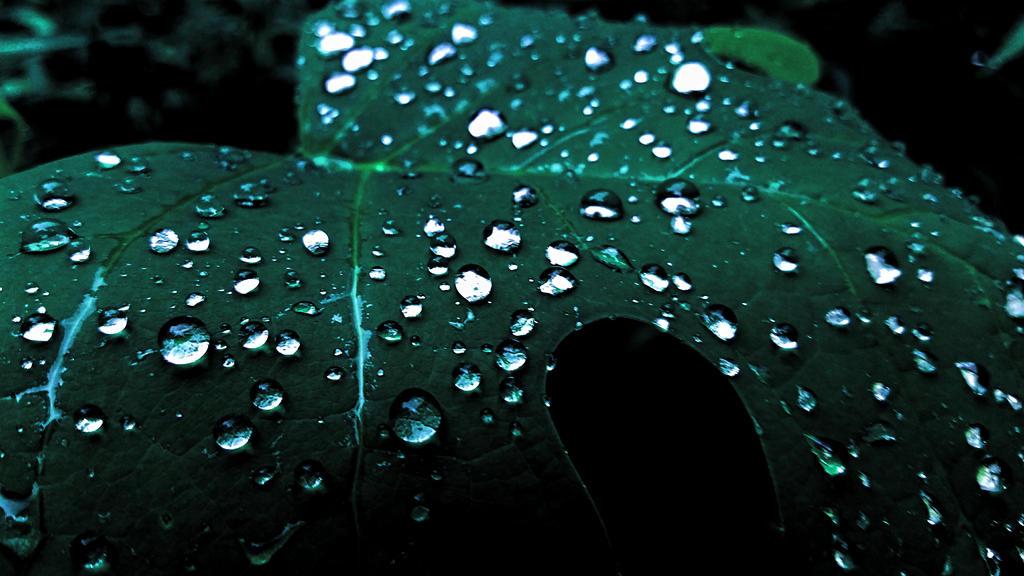 glowing waterdrops 2 by huntercobb