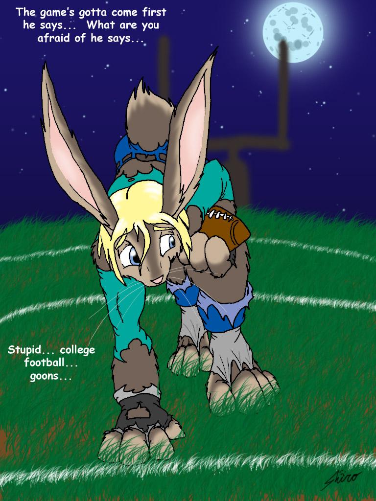 football bunny by catmonkShiro