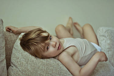 vadim lying on the sofa by A36yKA