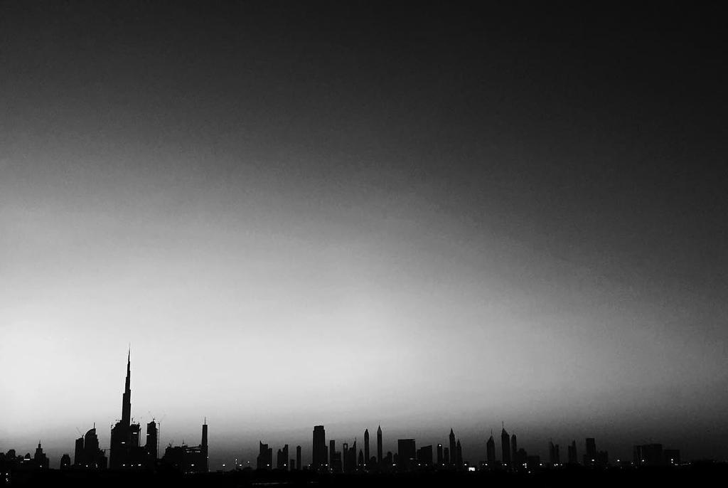 Dubai Skyline by aliohali