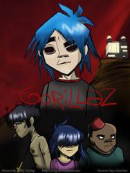 Gorillaz -Poster- by Senshee