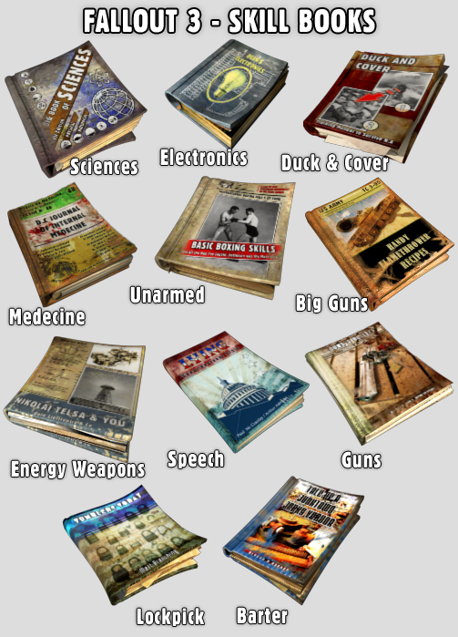 FO3 - Skill Books Icons by Toan76 on DeviantArt
