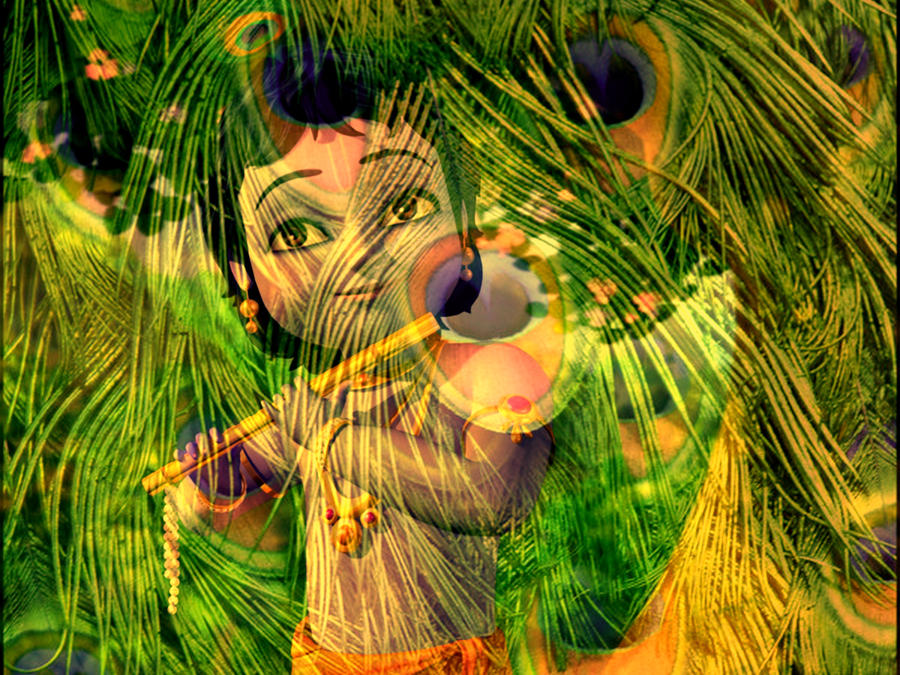 KriSHNA 3D Peapock Feather 1 By Sajan1245