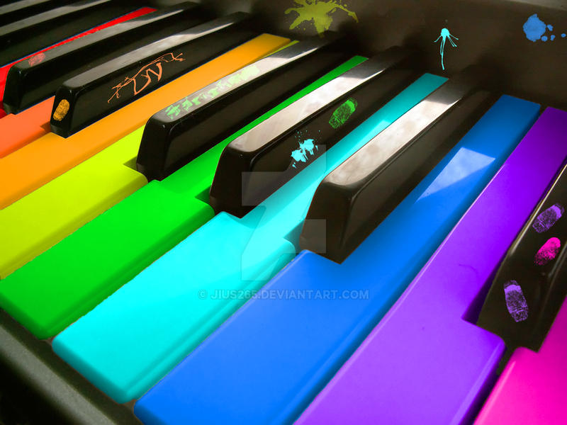Rainbow Piano by Jius265