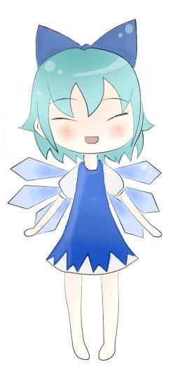 Happy Cirno - collab