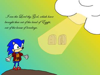 Moses receives the Ten Commandments by Sonic-Fan04