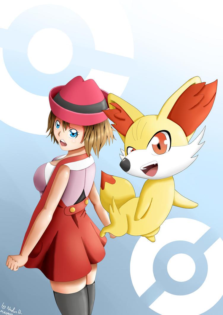 Pokemon XY Serena and Fokko by Setsky
