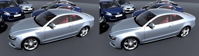 Stereoscopic render of cars by patlefort