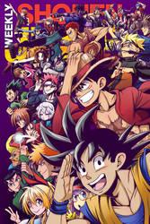 Weekly Shonen Jump 2016 Cover Contest Entry by kentaropjj