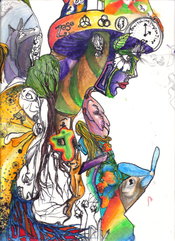 psychedelic progress by LunajiaNevermore