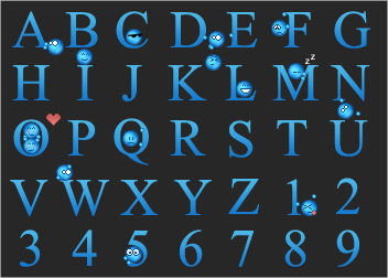 Emoticon Alphabet by system16