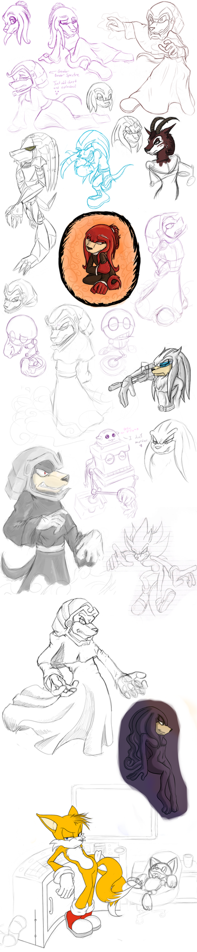Another Sketch Dump by MarillMatey