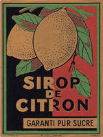 Vintage French Lemon Label by HauntingVisionsStock