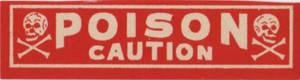 Vintage Poison Label 2