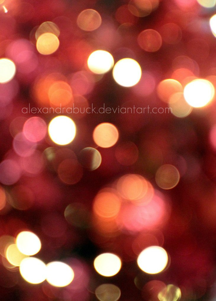 red bokeh. by AlexandraBuck