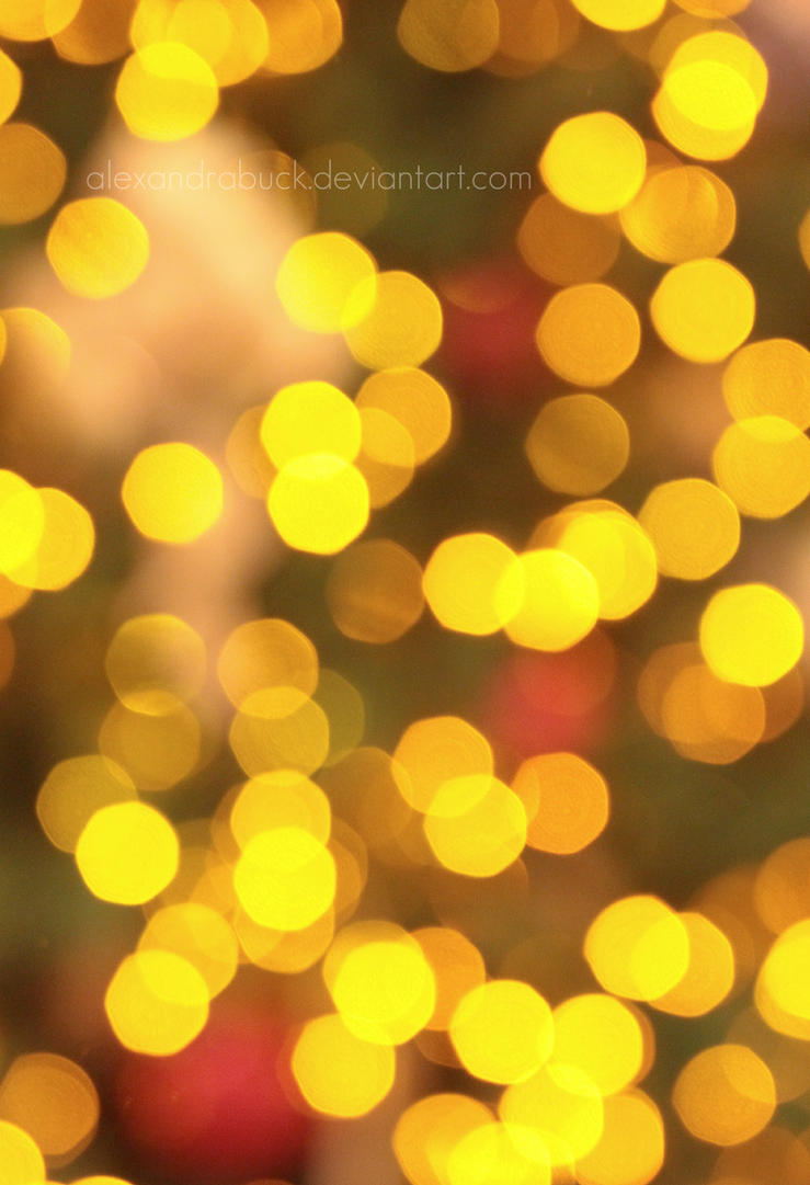 yellow bokeh. by AlexandraBuck