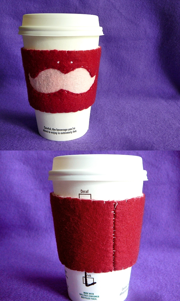 Mustache Coffee Cozy V.2 by stefania-zee
