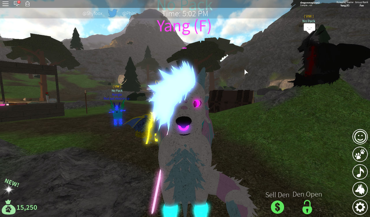 Wolves Life 3 Roblox Yang By Dragonmagique2 On Deviantart