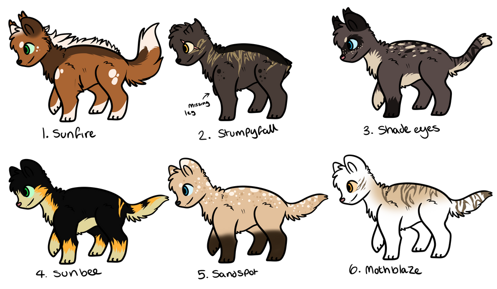 Free warrior cats Adopts by Buff-Spud on DeviantArt