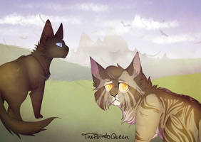 Run || Leafpool and Crowfeather || + Speedpaint by Buff-Spud