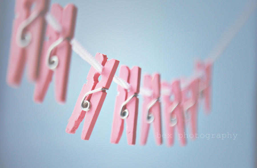 pink pegs by ~BeciAnne