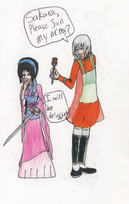 Sakura and Riku as Mulan and Shang by RM-Keyblade-Mistress on ...