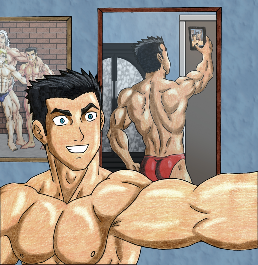 Fang sexy manly Selfie