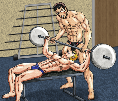 The hottest workout ever Kiba/Seiko 1 by Luipunker91