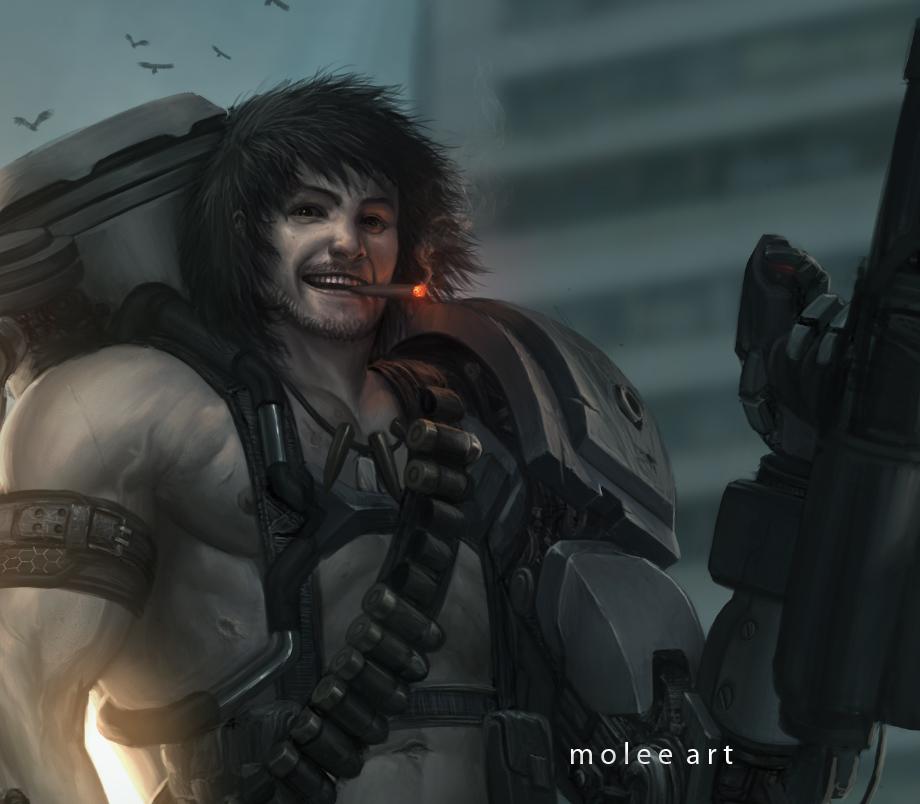 Cyborg Kshatriya details by molee