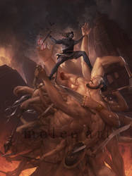 Rama vs Kartavirya by molee